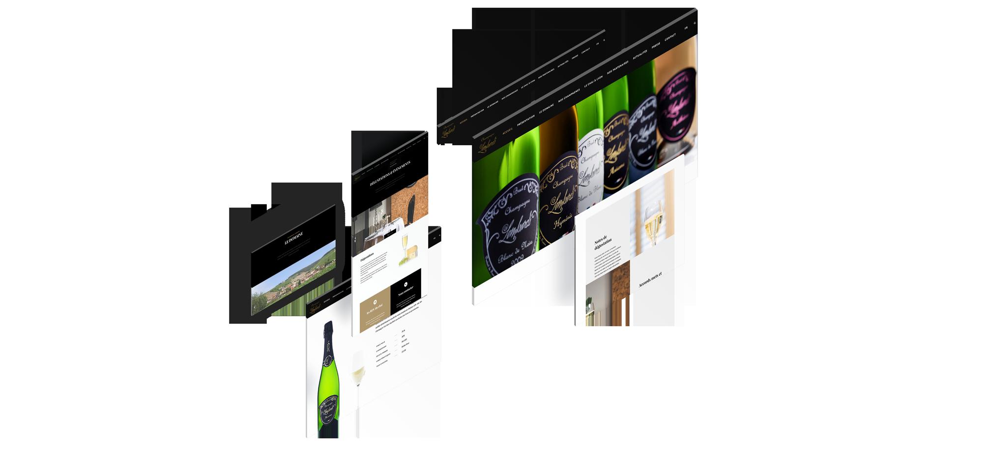 Champagne Lombardi Un site développé par BobandCo