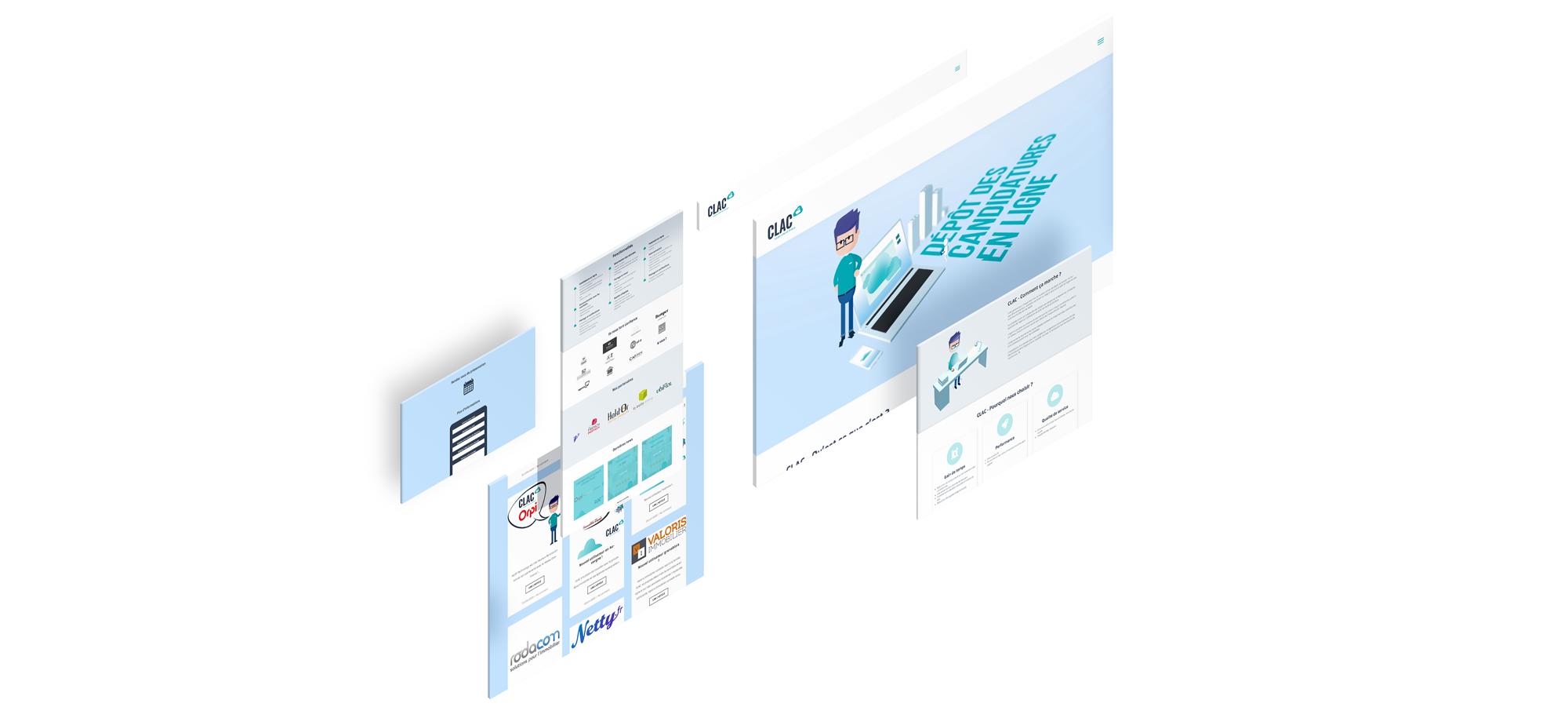 Clac Un site développé par BobandCo