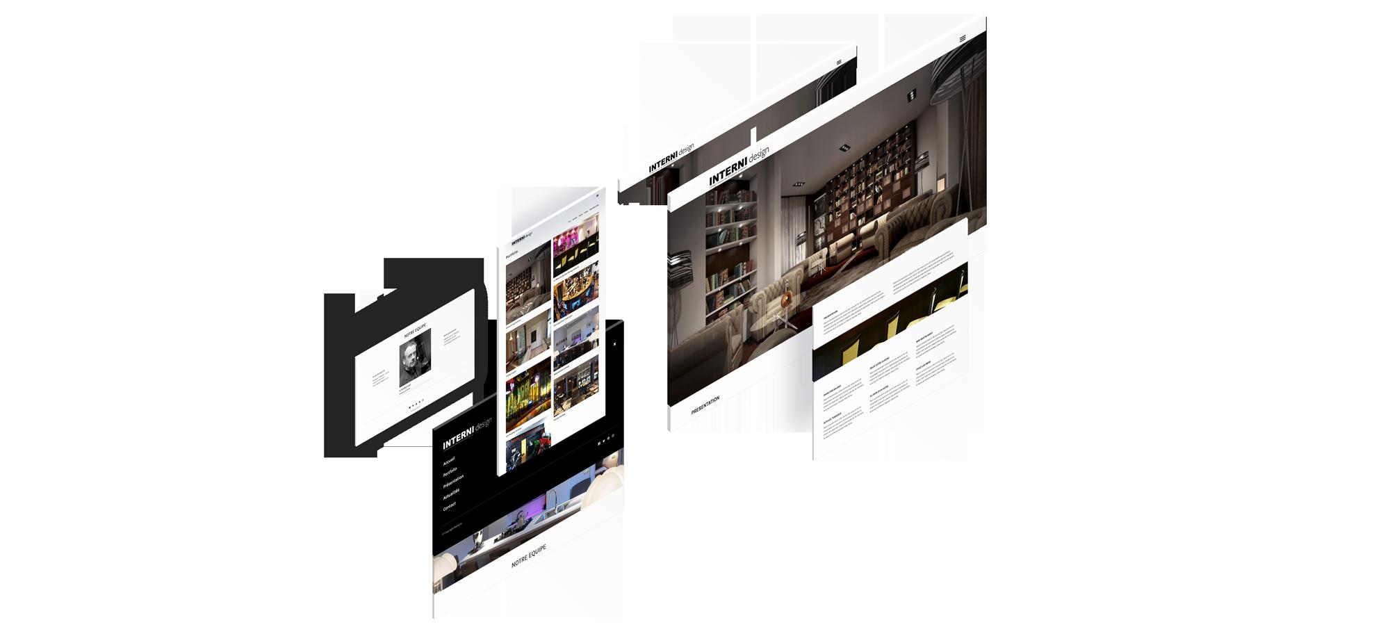 Interni Design Un site développé par BobandCo