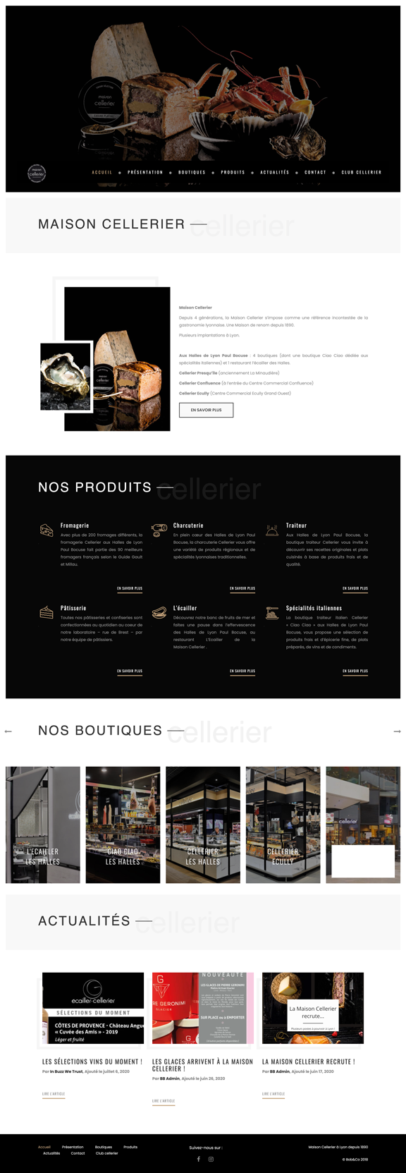 Maison Cellerier Un site developpé par BobandCo
