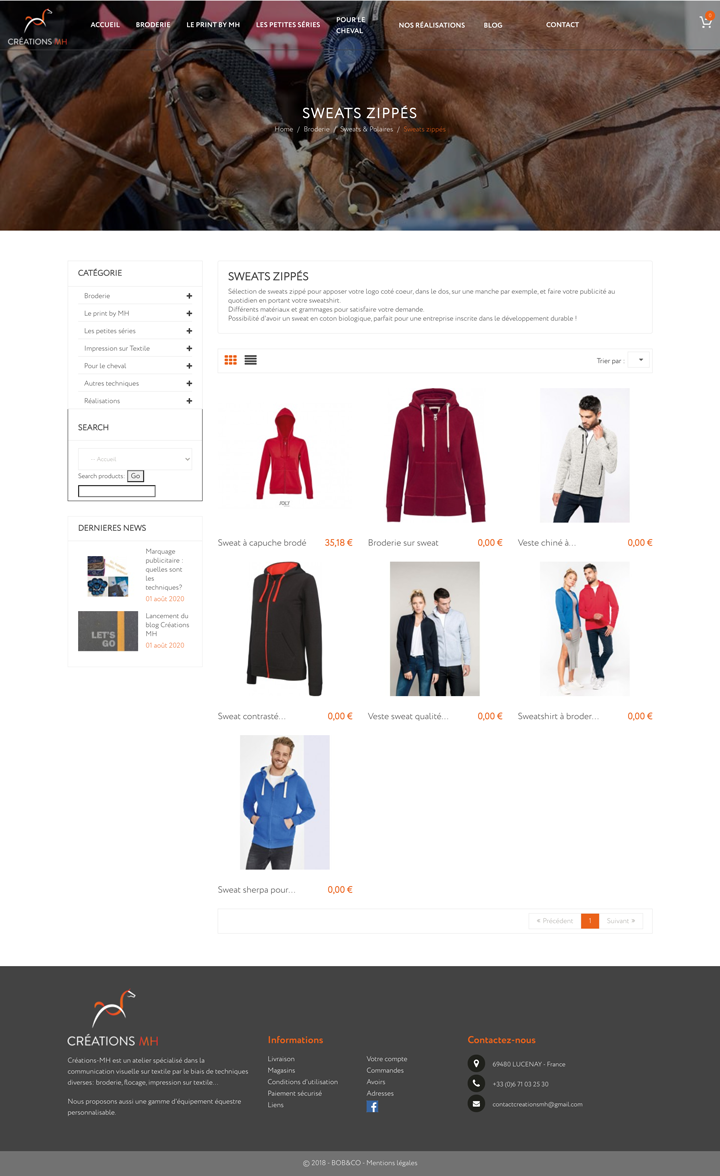 MH Création Un site developpé par BobandCo