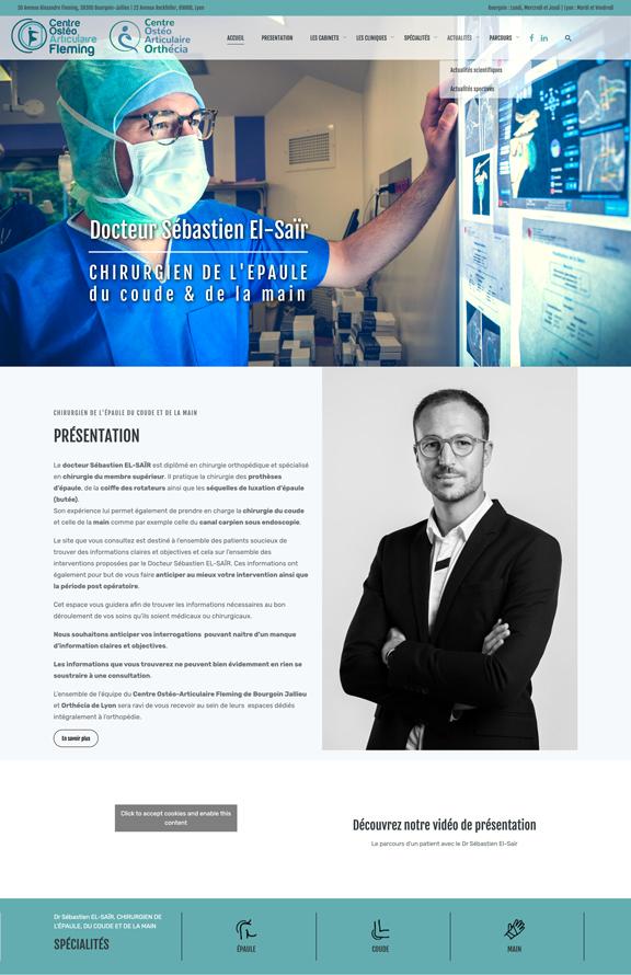 Docteur Sebastien El-Saïr Un site développé par BobandCo