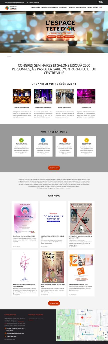 Espace Tête D'or Un site développé par BobandCo