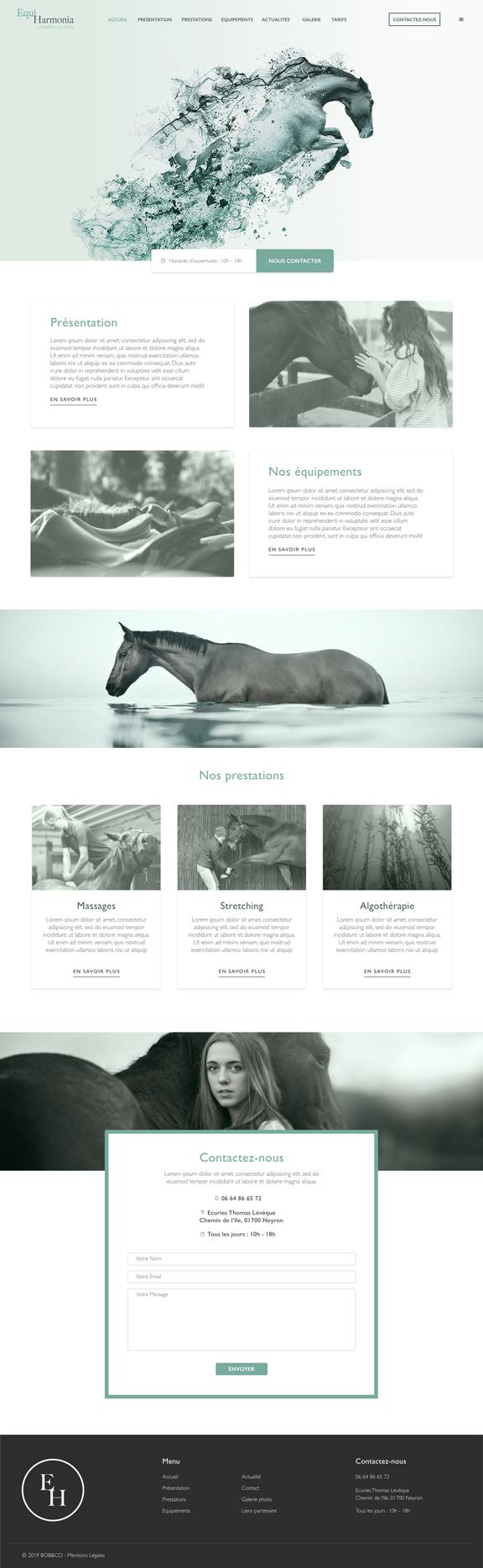 EquiHarmonia Un site développé par BobandCo