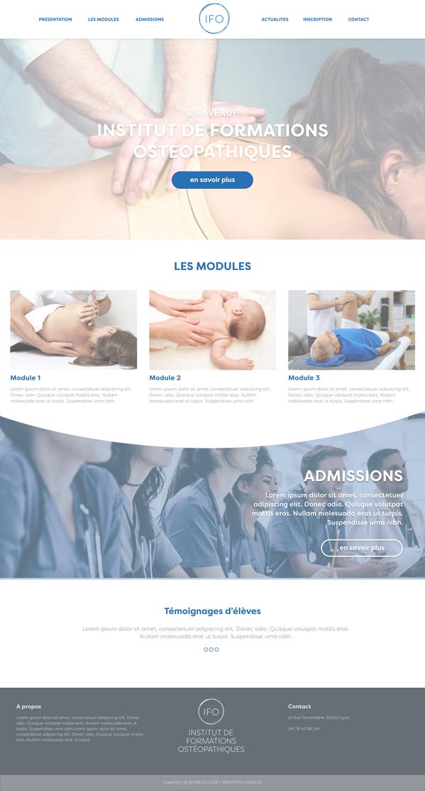 Institut de Formations Ostéopatiques Un site développé par BobandCo