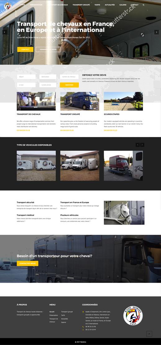 Raph Horse Taxi Un site développé par BobandCo