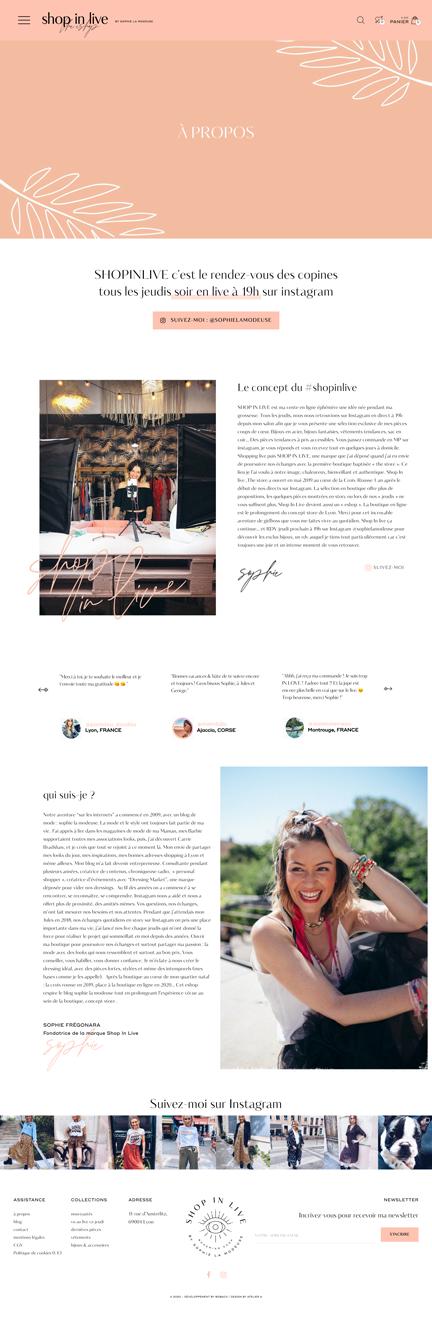 Sophie la Modeuse Un site développé par BobandCo