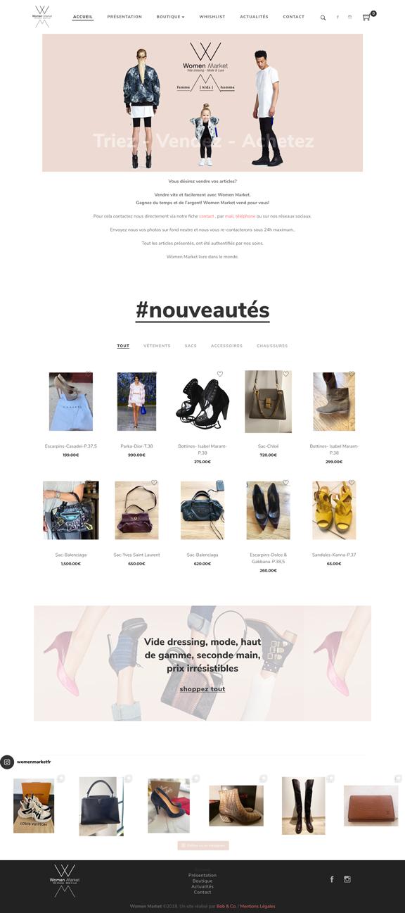 Women Market Un site développé par Bob&Co