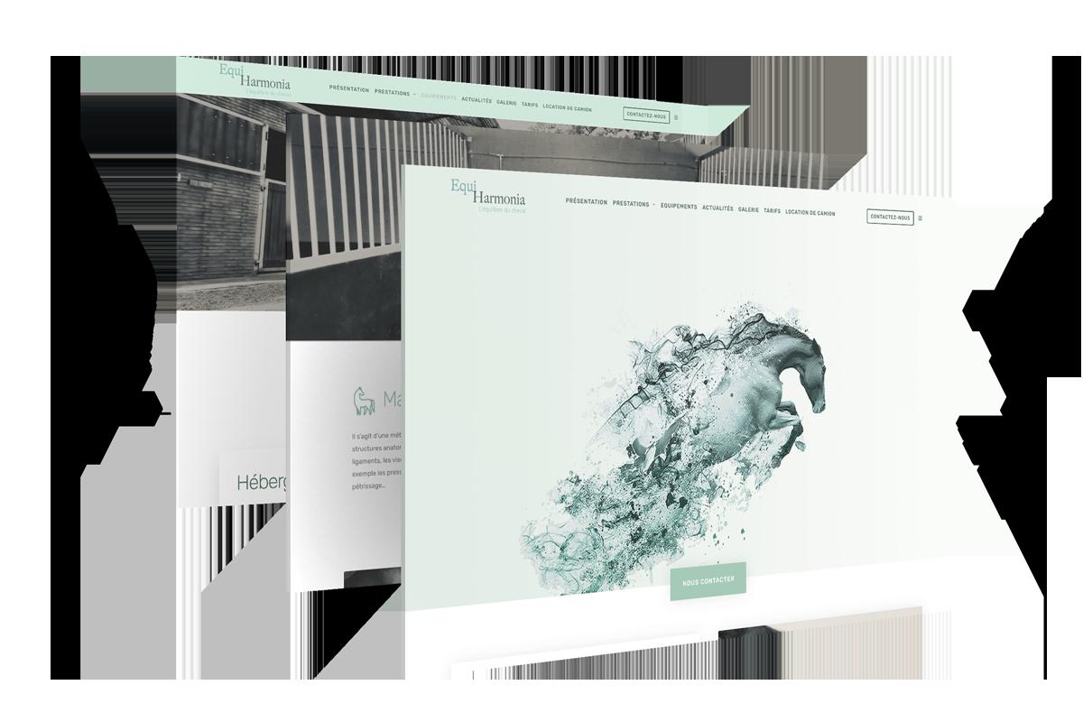 Equi-Harmonia Un site développé par BobandCo