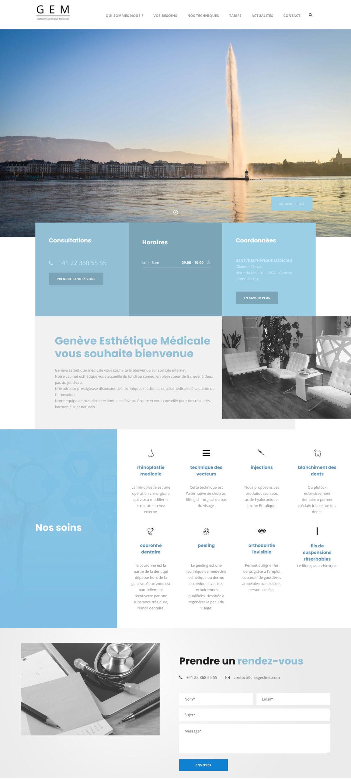 Genève Esthétique Un site développé par Bob&Co